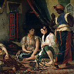 Eugène Delacroix -- Algerian women in their apartment, Part 1 Louvre