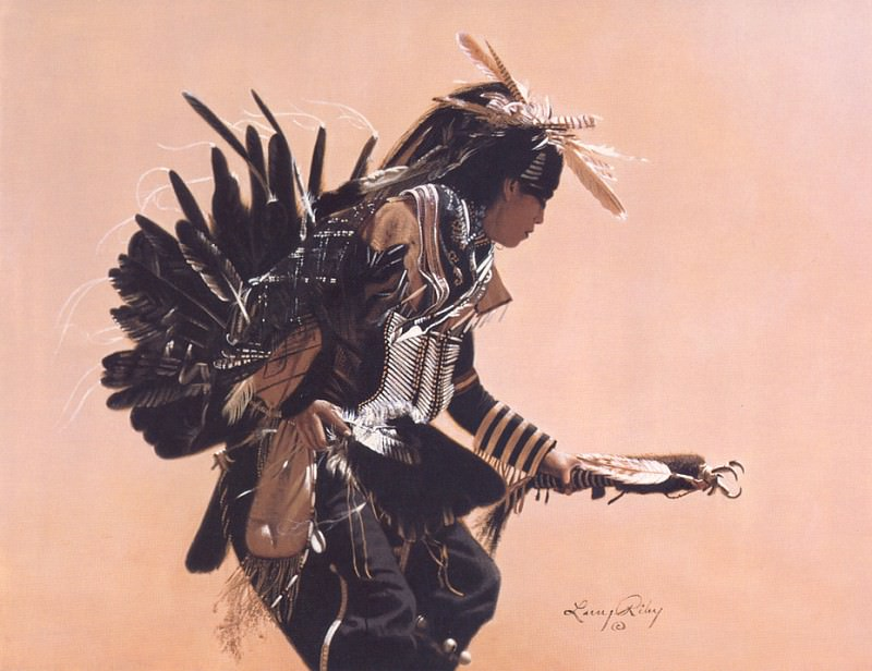 Riley Larry Medicine Man. Native American