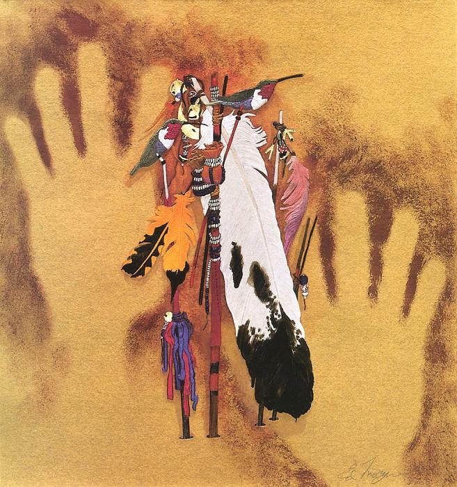 Morgan Ed Spirit Hands. Native American