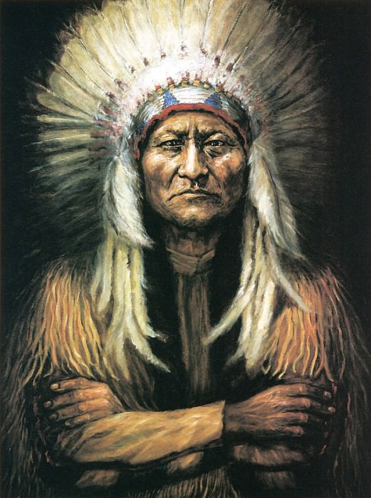 Slagle June Rose-Sitting Bull. Native American