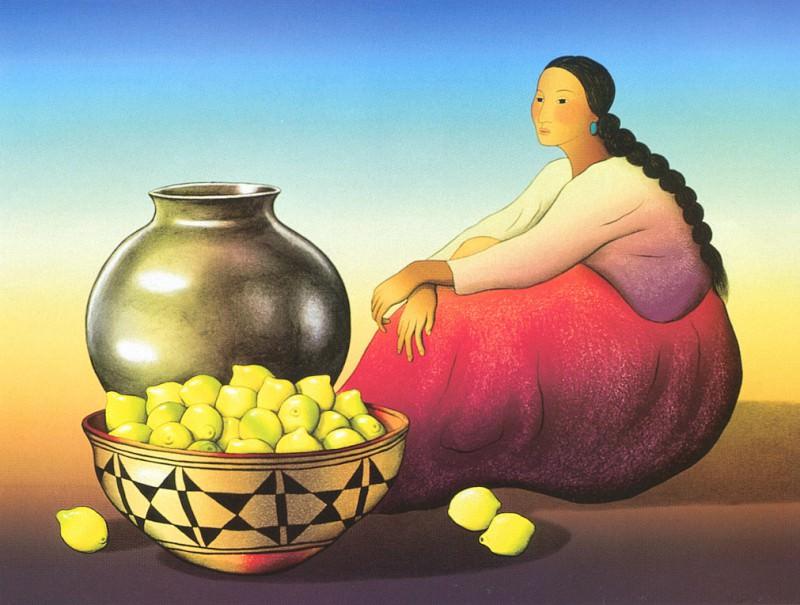 Gorman RC Woman with Lemons. Native American