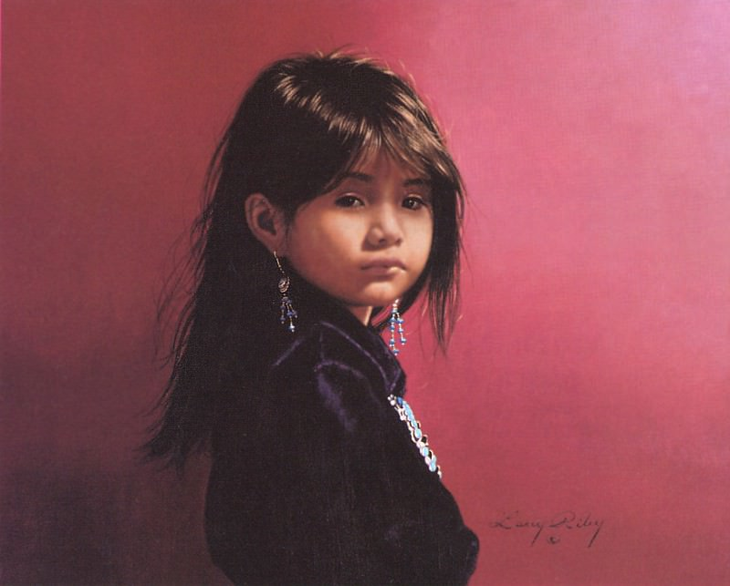 Riley Larry Navajo Portrait. Native American
