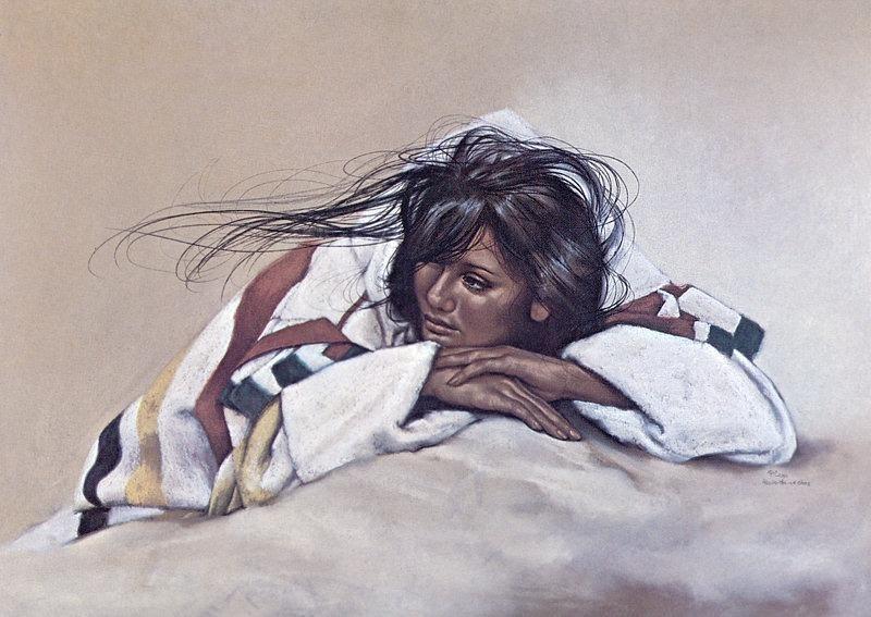 Cross Penni Anne-Winter Capote. Native American
