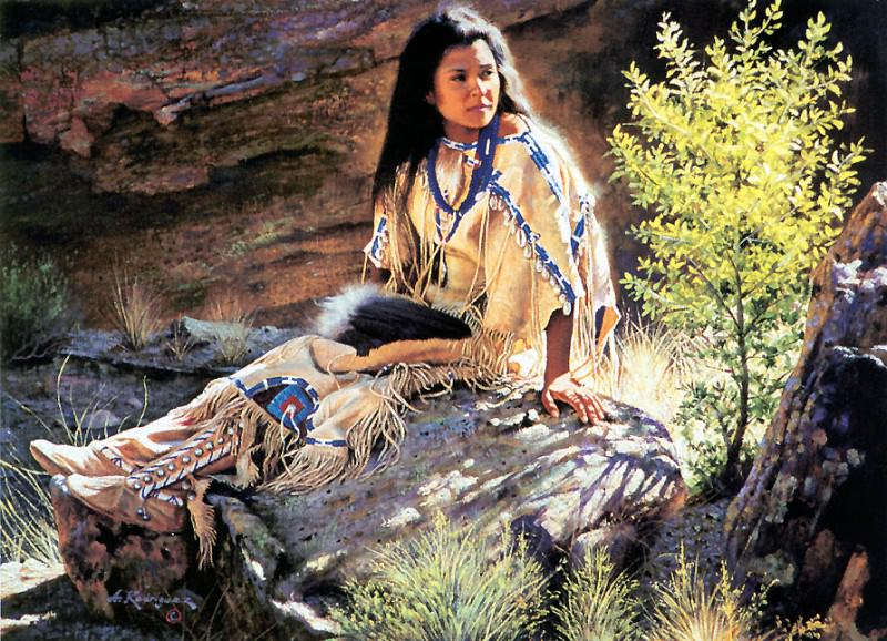 Rodriguez Alfredo-Afternoon Light. Native American