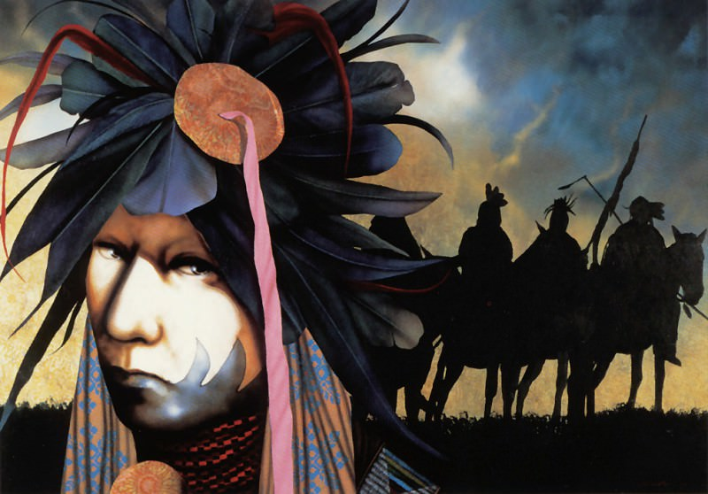 Challenger JD All Over the Sky Sacred Voices are Calling. Native American