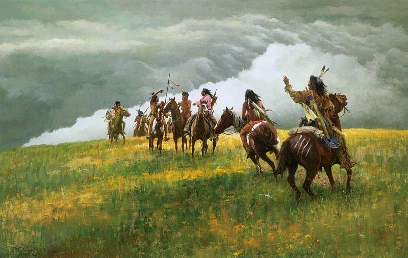 Terpning Howard Thunder Speaks. Native American