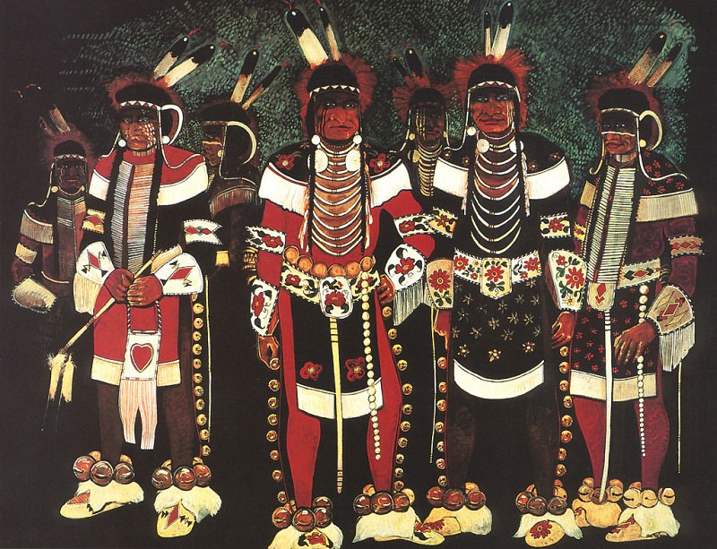 Red Star Kevin Crow War Dancers. Native American