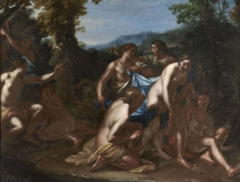 Diana and Callisto with Nymphs. Francesco Albani (Manner of)