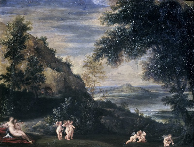 Landscape with Venus and Cupids. Francesco Albani