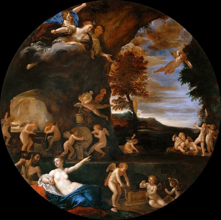 Summer - Venus in Vulcan's Forge. Francesco Albani