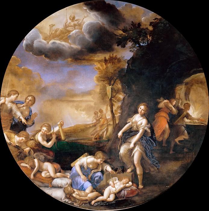 Winter - Triumph of Diana. Francesco Albani