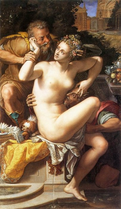 Susanna And The Elders. Alessandro Allori