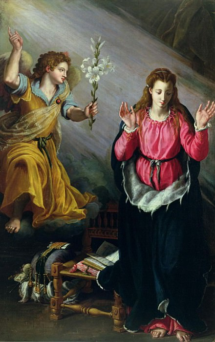 The Annunciation. Alessandro Allori
