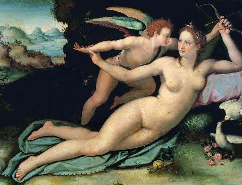Venus and Cupid. Alessandro Allori