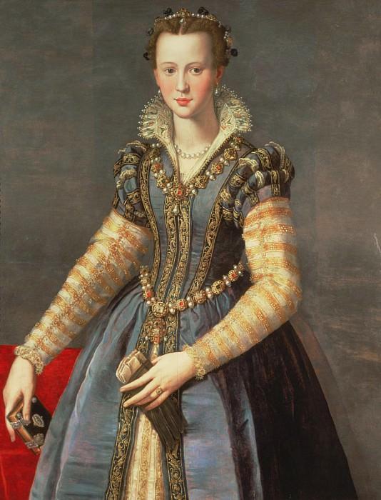 Marie de Medici (1573-1642), wife of Henri IV of France (1553-1610). Alessandro Allori