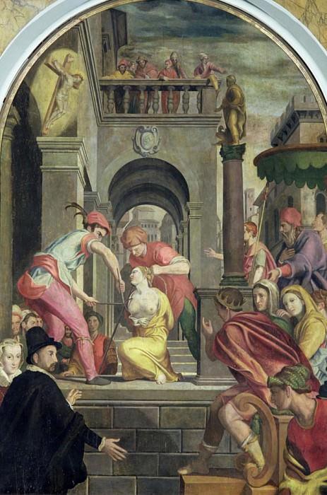 The Martyrdom of St. Agatha. Alessandro Allori