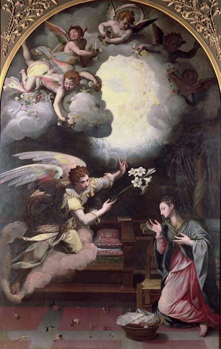 The Annunciation. Alessandro Allori