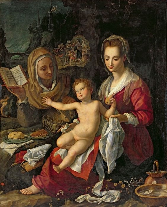 Мадонна с младенцем и святой Елизаветы. Алессандро Аллори
