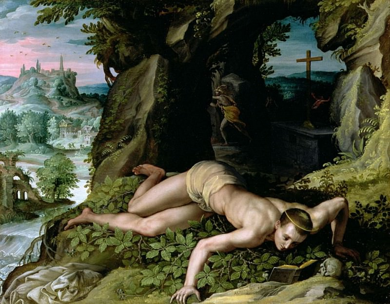 The Temptation of St. Benedict. Alessandro Allori