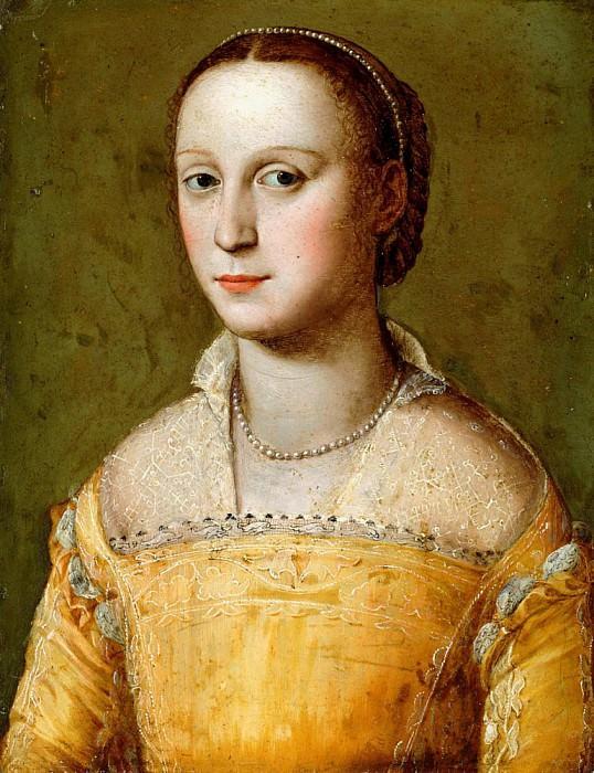 Элеанора Д'Эсте в золотом платье. Алессандро Аллори