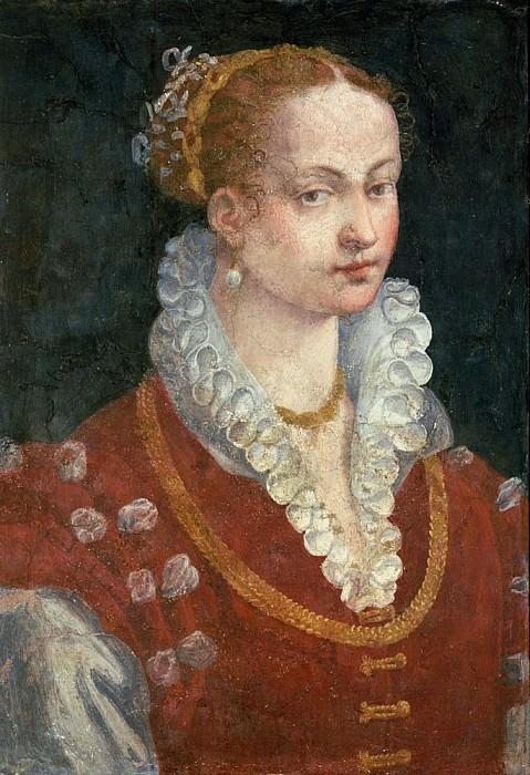 Portrait of Bianca Cappello (c.1542-87) Wife of Francesco de Medici, Grand Duke of Tuscany. Alessandro Allori