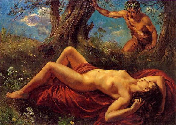 Сатир и спящая нимфа. Джордж Апперлей