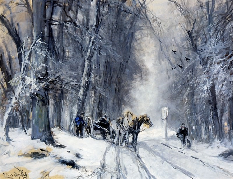 Lodewijk Winter forest view. Louis Apol