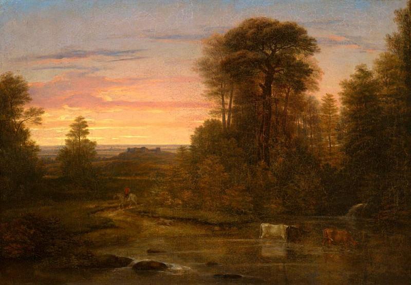 A Landscape after Sunset. Washington Allston
