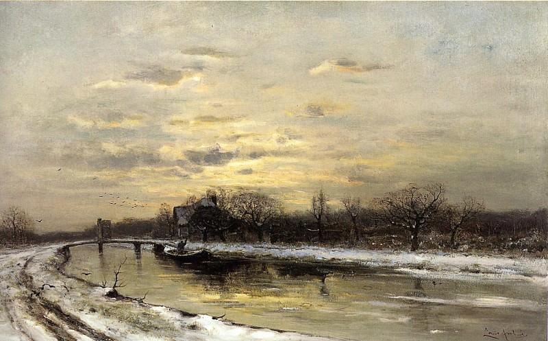 Зимний пейзаж. Лодевейк Апол