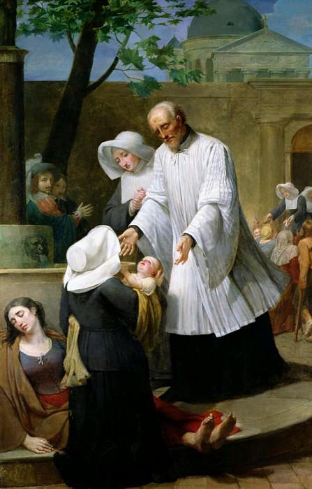 St. Vincent de Paul Helping the Plague-Ridden. Antoine Ansiaux