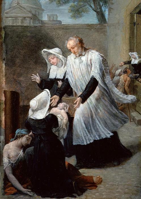 Сен-Винсент де Поль помогает больным чумой. Антуан Ансьё