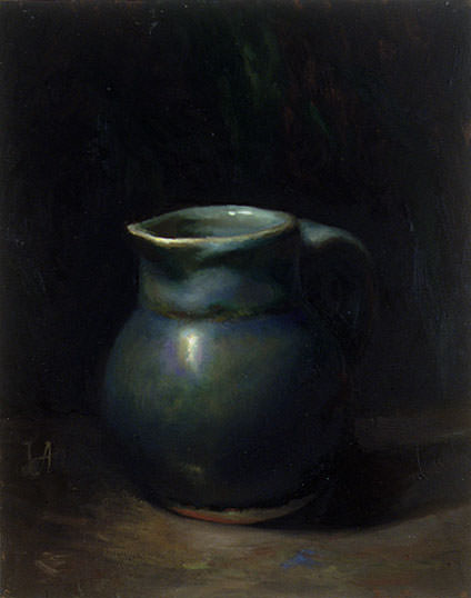 Blue Pitcher. Juliette Aristides
