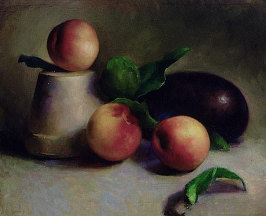 Eggplant and Nectarines. Juliette Aristides