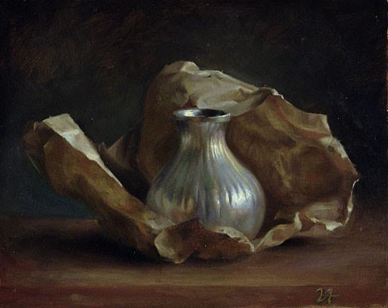 Silver Vase. Juliette Aristides