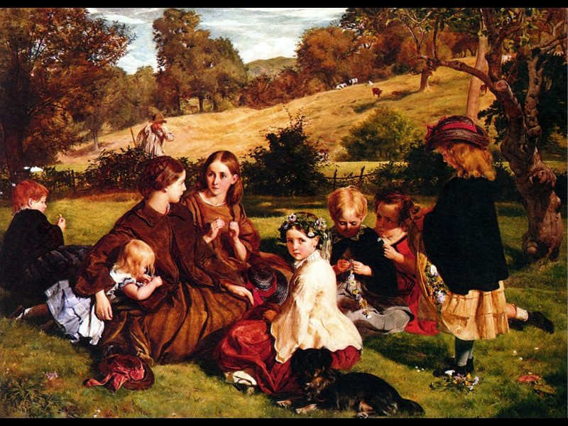 1860 Summertime Gloucestershire oiil on canvas 0.764x1.060m National Gallery of Scot. James Archer