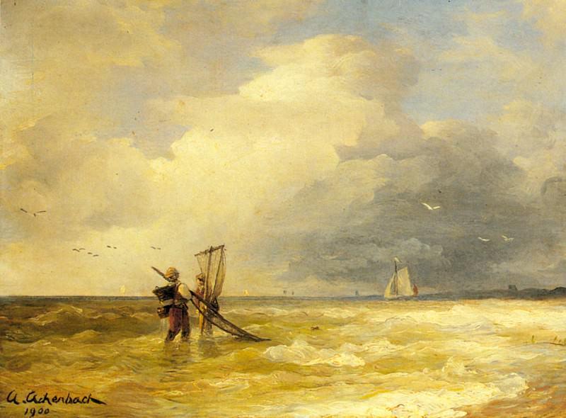 Fishing Along The Shore. Andreas Achenbach