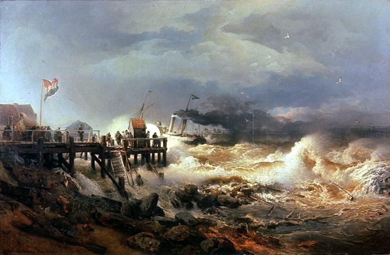 Шторм у побережья Голландии. Андреас Ахенбах