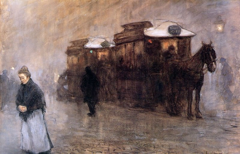 Трамвай с лошадиной тягой. Флорис Арнцениус