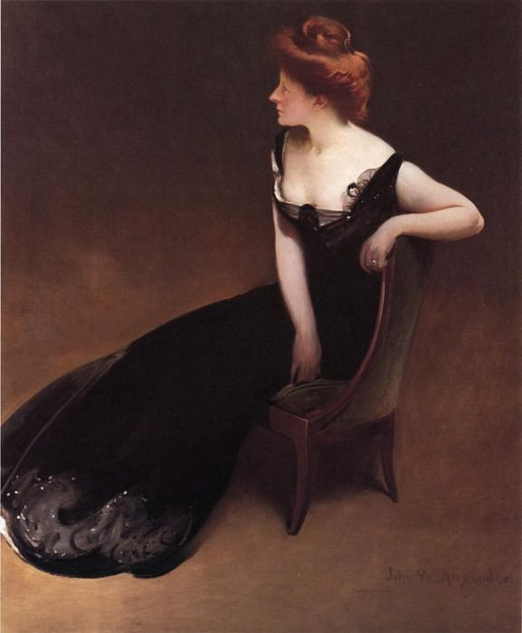 Portrait of Mrs. V Mrs. Herman Duryea. John White Alexander