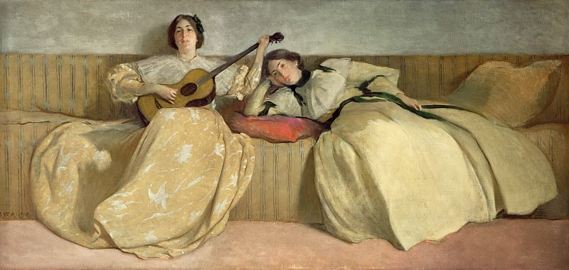 Панель для музыкальной комнаты 1894. John White Alexander (Panel for Music Room)