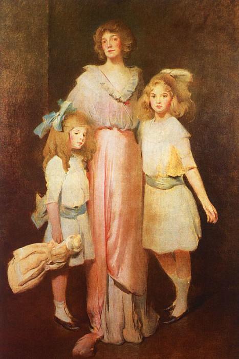 Миссис Дэниелс с двумя детьми. Джон Уайт Александр