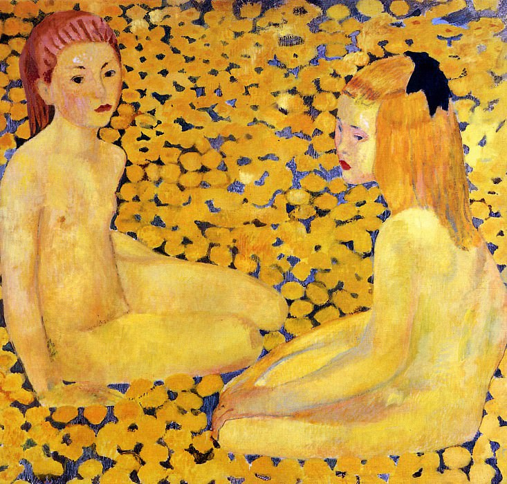 The yellow girls. Cuno Amiet