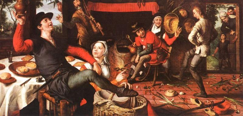 The Egg Dance, 1557, oil on panel, Rijksmuseum. Pieter Aertsen (Lange Pier)