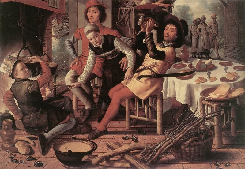 Peasants By The Hearth. Pieter Aertsen (Lange Pier)