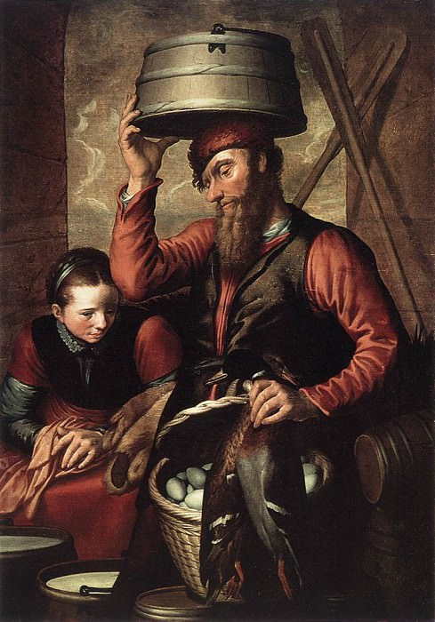 Vendor Of Fowl. Pieter Aertsen (Lange Pier)