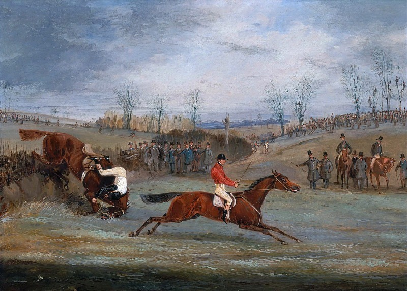 A Steeplechase - Another Hedge. Henry Thomas Alken