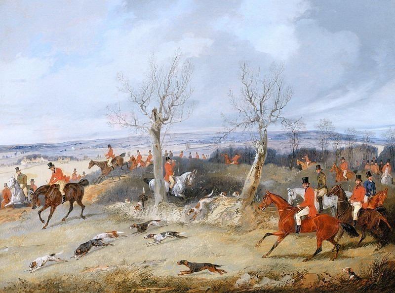 Сцена охоты - Загон. Генри Томас Алкен