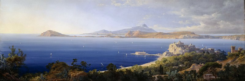 Bay of Pozzuoli near Naples. August Wilhelm Julius Ahlborn