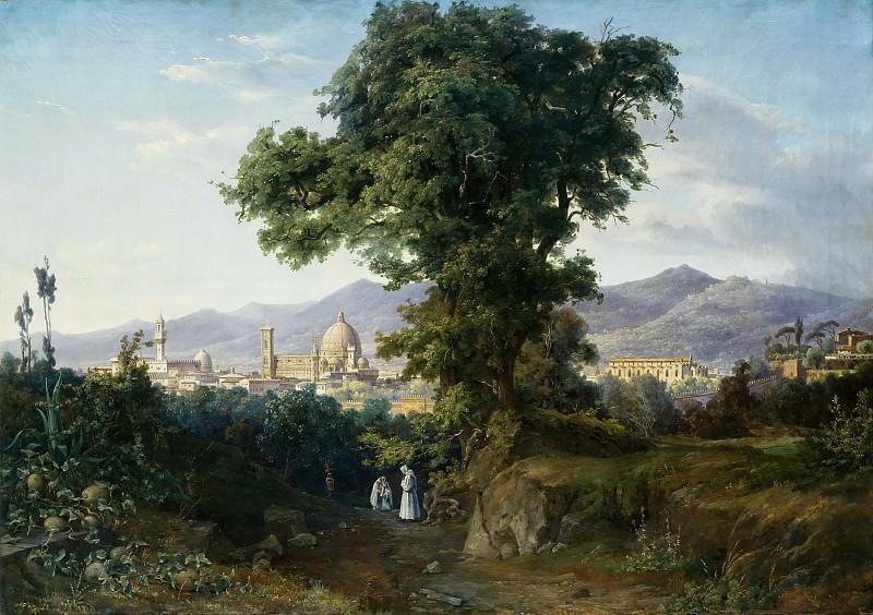 Вид на Флоренцию. Август Вильгельм Юлиус Альборн