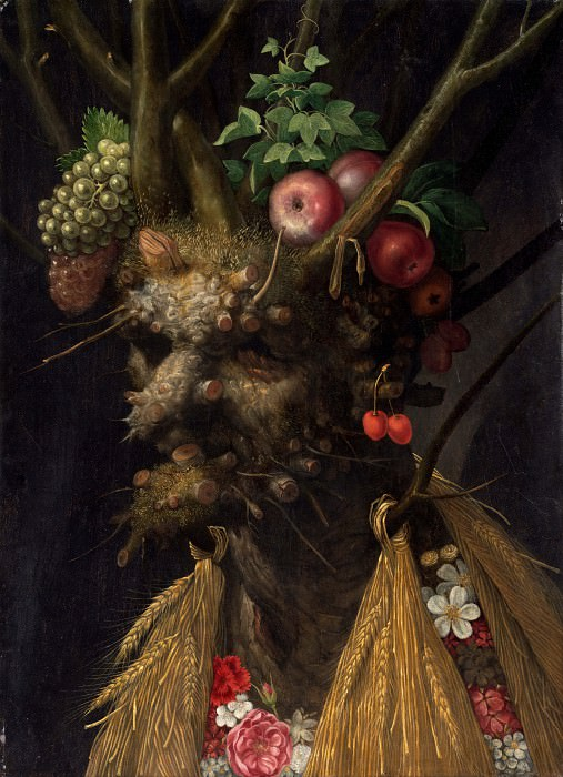 Four Seasons in One Head. Giuseppe Arcimboldo